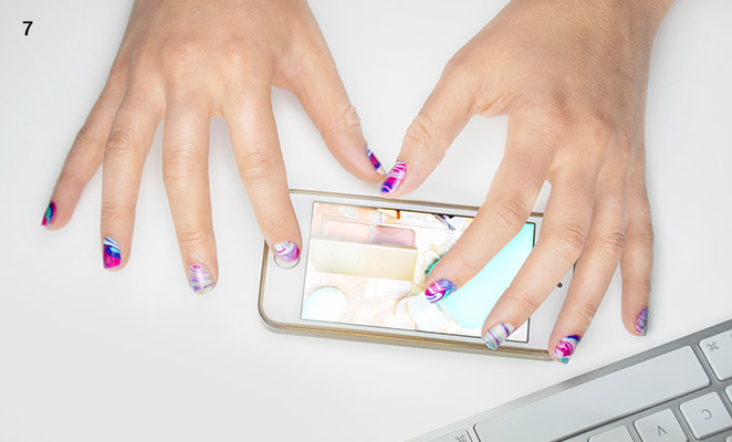 How To Water Marble Nails