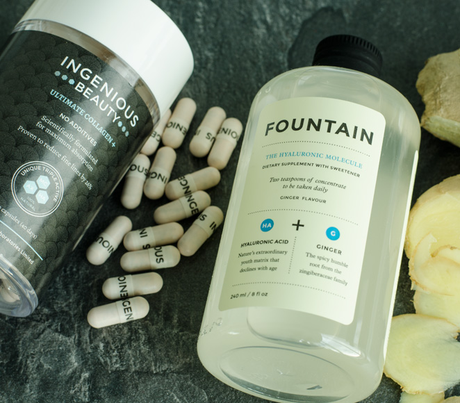 Fountain The Hyaluronic Molecule and Ingenious Beauty Ultimate Collagen