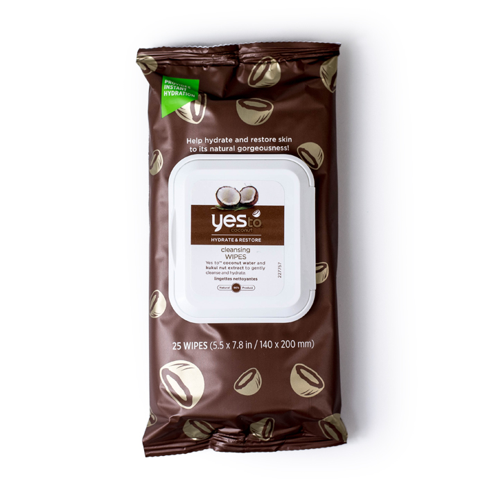 yesto coconut cleansing wipes