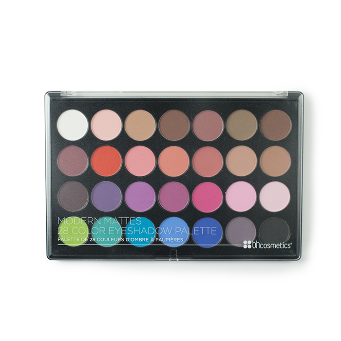 bh cosmetics modern mattes 28 colour eyeshadow palette