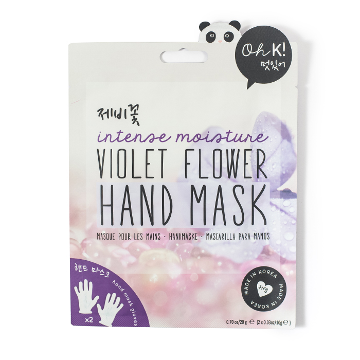ohk intense moisture violet flower hand mask