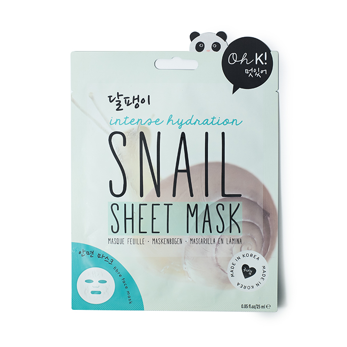 ohk snail sheet mask