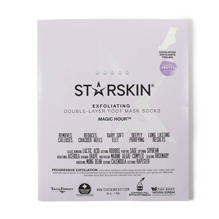 starskin exfoliating foot mask