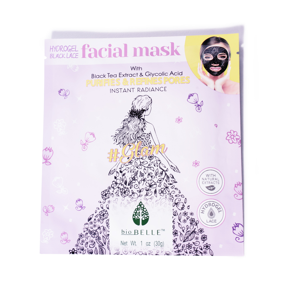 biobelle black tea extract glycolic acid mask