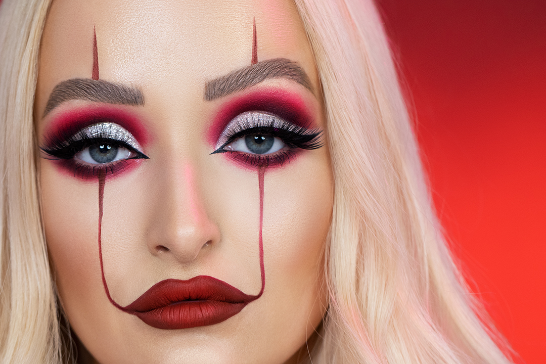 Get The Look It,Inspired Clown Makeup For Halloween