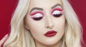 Get The Look: Rei Lilith's Candy Cane Eyeliner Tutorial