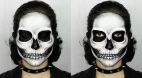 An Easy Skull Makeup Tutorial For Halloween 2021