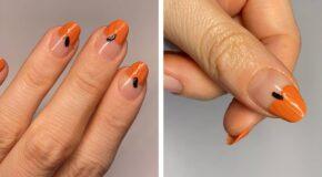 Easy Pumpkin Nail Art Tutorial For Halloween